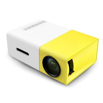 2016 The New Listing Yellow Mini YG300 LCD 400 - 600 Lumens 320 x 240 Pixels 3.5mm Audio Interface Home Projector Media Player
