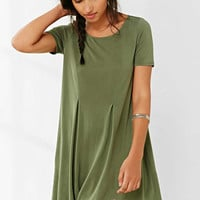 Silence + Noise Riley Khaki Swing Dress - Urban Outfitters