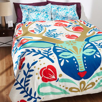 Sweet Dreams, Deer-est Duvet Cover in Full/Queen | Mod Retro Vintage Decor Accessories | ModCloth.com