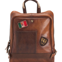 Made In Italy Wide Leather Backpack - Shoulder Bags - T.J.Maxx