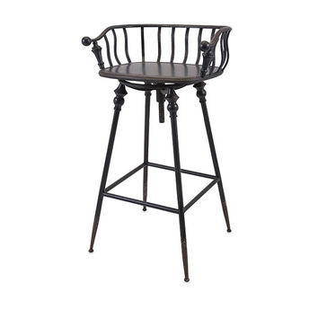 Old Fashioned Metal Bar Chair