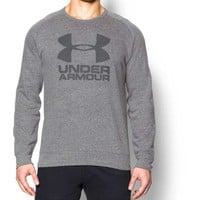 Under Armour Sportstyle Graphic Fleece Pullover in Greyhound Heather for Men 1269731-082
