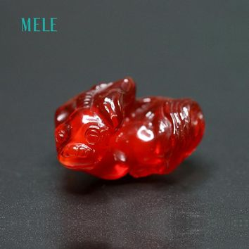 MELE Mexican 41.3 CT Natural Deep Red Fire Opal