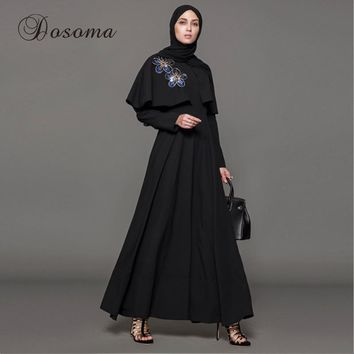 Muslim Dress Abaya Embroidery Cloak Kimono Jilbab Robe Gowns Cardigan Jalabiya Loose Style Middle East Islamic Clothing Party