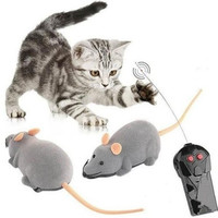 Hot Wireless Remote Control RC Electronic Rat Mouse Mice Toy For Cat Puppy Gift WI LI