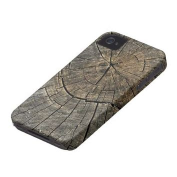 Natures Patterns (Wooden Stump) Digital Art Iphone 4 Tough Covers from Zazzle.com