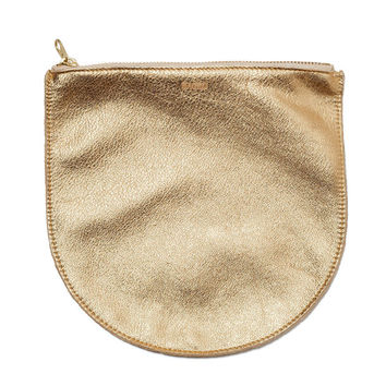 BAGGU: Leather Pouch Gold
