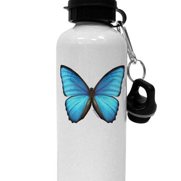 Big Blue Butterfly Aluminum 600ml Water Bottle