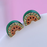 Accessory Diamonds Watermelon Earring Jewelry [6573074183]
