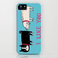 I Like You. iPhone & iPod Case by Gemma Correll