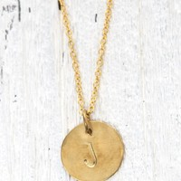 Me To We 'J' Stamped Necklace - Womens Jewelry - Gold - One