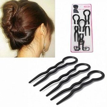 Cheapest 6Pcs Summer Invisible Hair Fork Inserted Side Bangs Clip Hairpin Hair Accessories Easily Use for Women Girls
