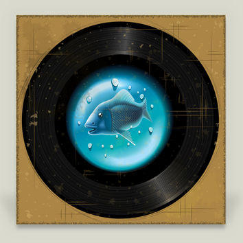 Vinyl Aquarium Art Print by Texnotropio on BoomBoomPrints