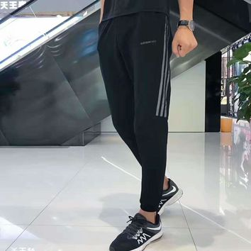 Adidas neo black splicing mesh long pants H-A-GHSY-1