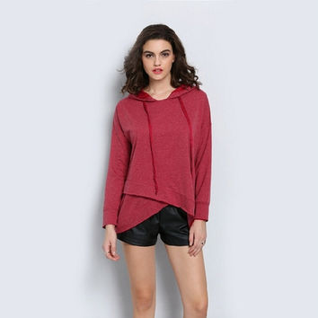 Rose Red Scales Hats Hoodies Long Sleeve Sweatshirts [7322500609]