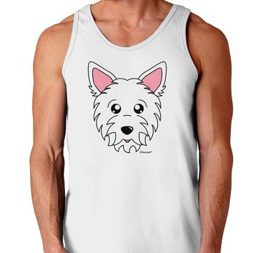 Cute West Highland White Terrier Westie Dog Loose Tank Top  by TooLoud