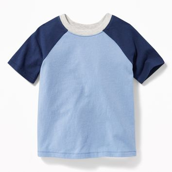 Raglan-Sleeve Color-Block Tee for Toddler Boys |old-navy