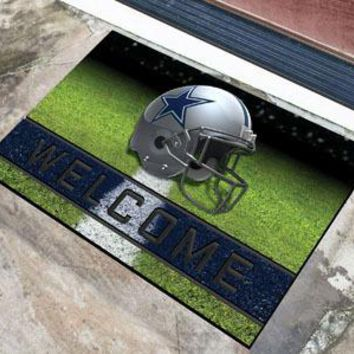 Dallas Cowboys Door Mat 18x30 Welcome Crumb Rubber