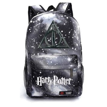 Harry Potter school bag backpack student school bag Notebook backpack Leisure Daily backpack