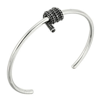 Marc Jacobs Pave Twisted Cuff Bracelet