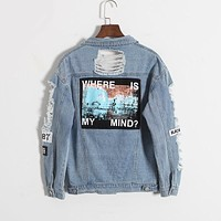 WHERE IZ MY MIND? DENIM JACKET