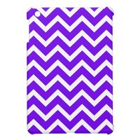 neon purple Chevron Pattern iPad Mini Case. from Zazzle.com
