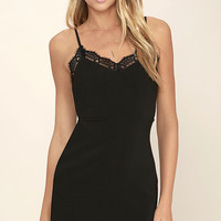 Otherworldly Black Lace Bodycon Dress