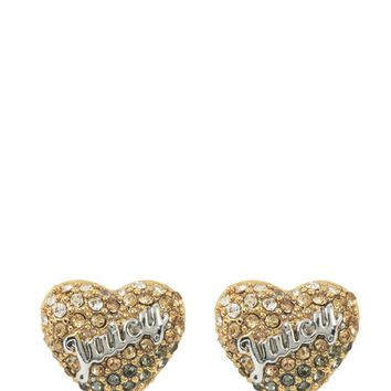 OMBRE HEART STUD EARRINGS