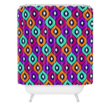 Aimee St Hill Leela Purple Shower Curtain