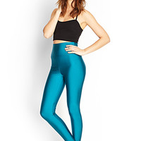 FOREVER 21 Shimmering High-Waist Leggings