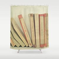 Falling Shower Curtain by Cassia Beck