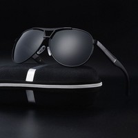 Mens Sunglasses Polarized Retro Aviator Alloy Outdoor Drving Eyewear Glasses