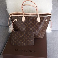 Vsgirlss: Louis Vuitton LV Women Fashion Leather Handbag Ba Two Piece Set