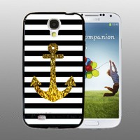 Anchor Gold Bling - design for Samsung Galaxy S4 Black case