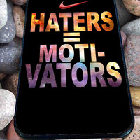 Nike Haters Motivation Custom for iPhone 4/4s, iPhone 5/5S/5C/6, Samsung S3/S4/S5 Unique Case *76*