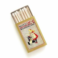 Alice's Adventures in Wonderland Matchbox - Lewis Carroll - Down the Rabbit Hole - Mad Hatter - Cheshire Cat - Light an Imaginative Spark