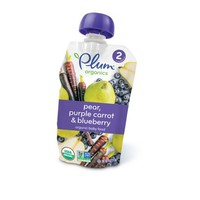 Plum Organics Baby Food Stage 2 Blueberry Pear & Purple Carrot 4.22oz
