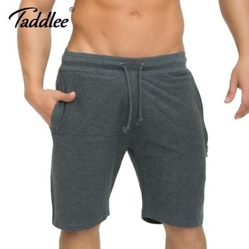 Men's Gray Knee-Length Short Sweatpants