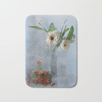 Wildflower Still LIFE Bath Mat by Theresa Campbell D'August Art