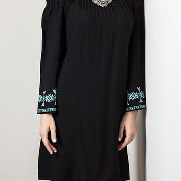 Eliza Bella for Umgee Embroidered Hippie-Chick Boho Dress / Blouse SML