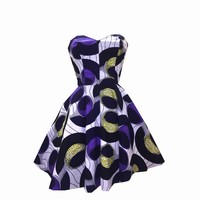 African Tribal Print Party Cotton Dress