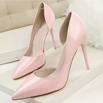 Autumn High Heels Women Shoes Fashion Pointed Toe