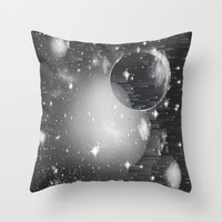 Space Pixels Throw Pillow by Ducky B