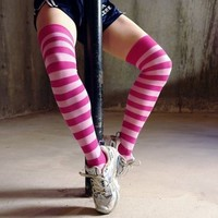 Pinks! Over Knee Socks