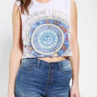 Truly Madly Deeply Mystical Circle Cropped Muscle Tee  - Urban Outfitters