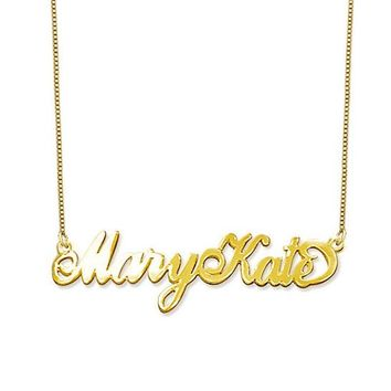 Two Capital Letters Name Necklace