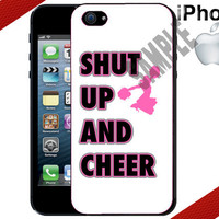 iPhone Case - Shut Up and Cheer - iPhone 4 Case or iPhone 5 Case - Hard Plastic iPhone Case