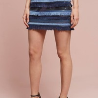 Waves Fringed Mini Skirt