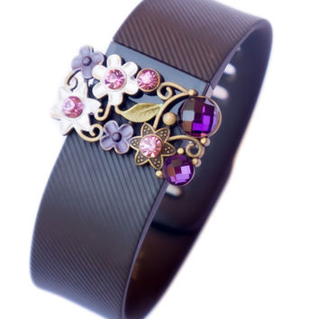 Fitbit Jewelry Accessories - Fitbit Charge/Charge hr bling - PURPLE