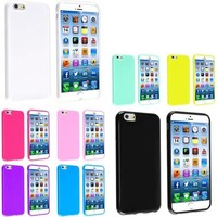 eForCity - 8-Pack Soft TPU Rubber Gel Jelly Case Bundle For iPhone 6